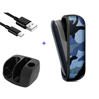 JINXINGCHENG for iqos 3 Case Pouch Bag Charger for iqos 3.0 Charging Holder Cover Snakeskin Case