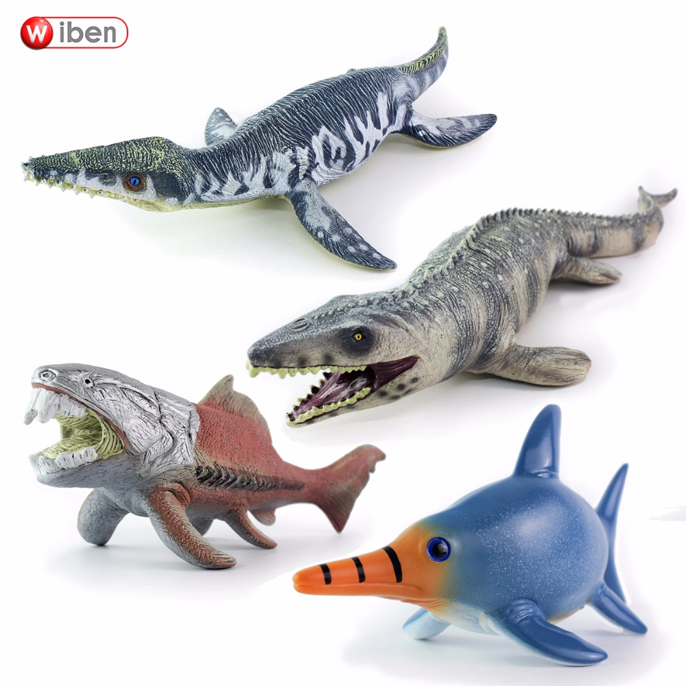 Sea Life Liopleurodon Dunkleosteus Mosasaurus Lchthyosauria Dinosaur Toy Soft PVC Collection Classic Toys For Children Gift
