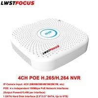 NVR Поддержка lwstfocus IP Камера Вход 8MP 6mp 5mp 4mp 3mp 2mp 1mp NVR 4ch H.265/H.264 PoE NVR HD видеонаблюдения ip сети видео Регистраторы