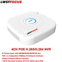 NVR Support LWSTFOCUS IP Camera Input 8MP 6MP 5MP 4MP 3MP 2MP 1MP NVR 4CH H
