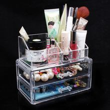 Desktop cosmetics organizers storage box jewelry holder cosmetic box lipstick holder drawer accessories storage box