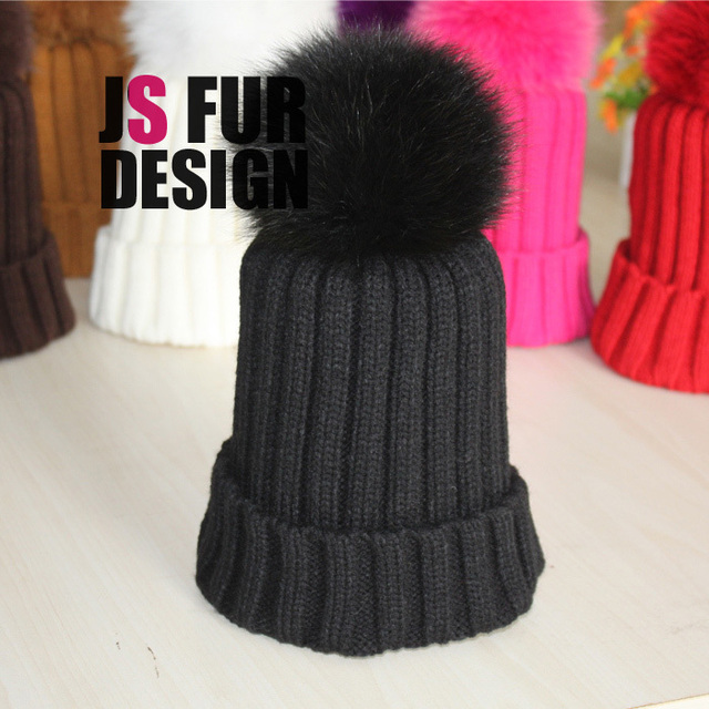 New kids wool hats girl hat for children winter cap girls fur baby kid homies wool animal knitted hats & caps accessories