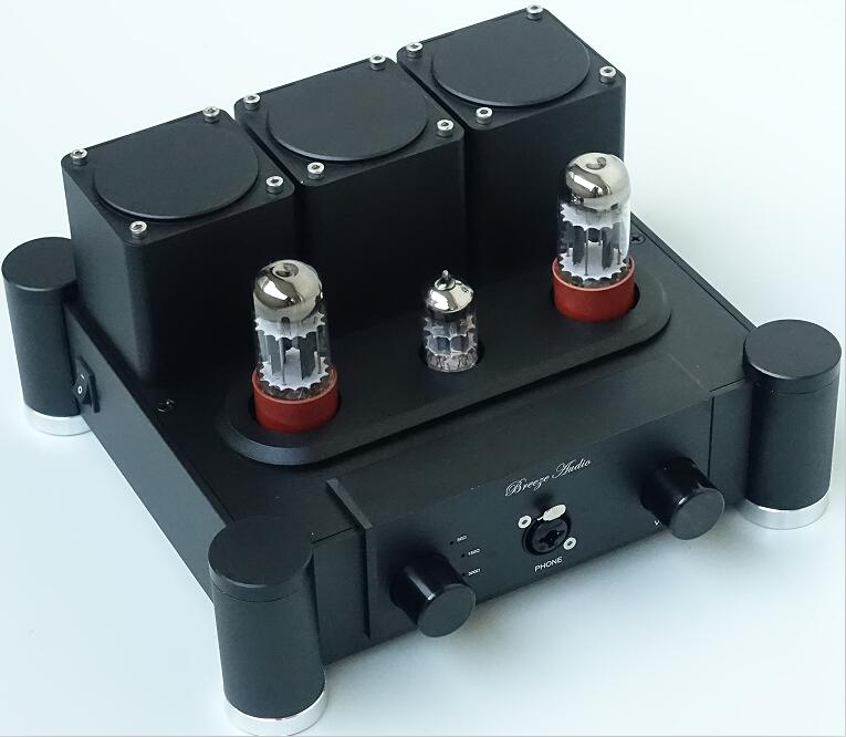 Douk Audio Latest TUNG-SOL 6SN7+12AX7 Hi-End Vacuum Tube Amplifier Class A Stereo Audio Amp Hi-Fi Preamp 6sn7x2 12ax7 hi end class a pure tube headphone amplifier hifi stereo preamplifier silver black