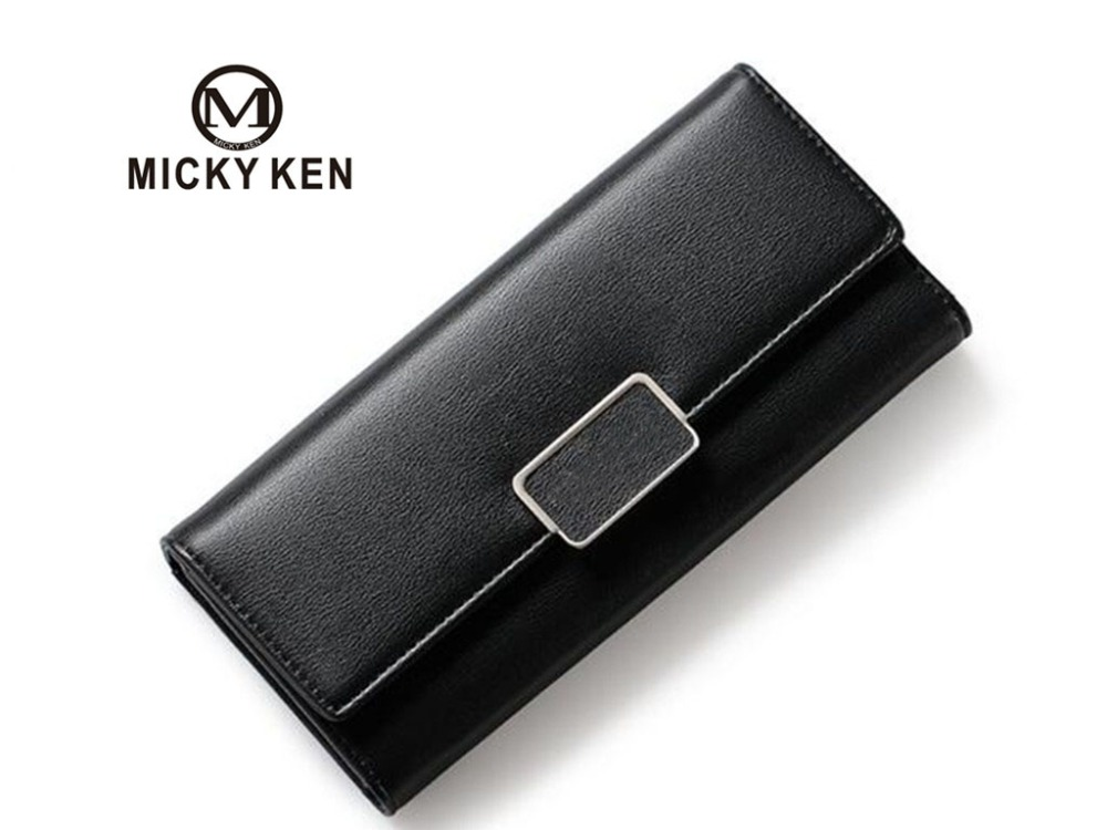 2018 new ladies wallet Korean version of the buckle long clutch multi-card bit purse clutch bags wallets