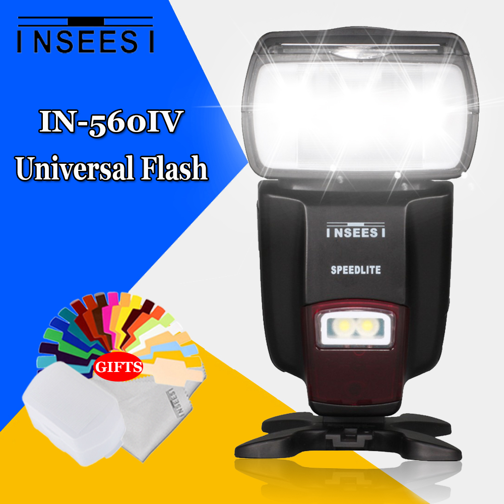 Universal Wireless Flash Speedlite INSEESI IN560IV For Canon Nikon Pentax Panasonic Olympus Sony VS Viltrox JY-680A Camera Flash pixel tw 282 shutter release wireless timer remote control for canon 700d 1200d 7d nikon d3300 d3200 d5100 sony pentax olympus