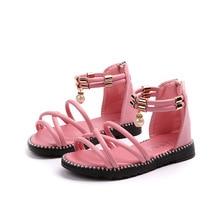AFDSWG kids shoes summer pink sandals for toddler girls black little boys red stud  beach