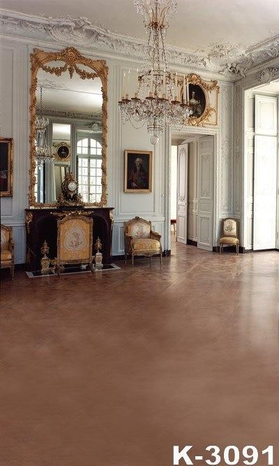 Nádherná krytý palác téma Photo Studio pro svatební fotografie kulisy 5X7FT Krásný toaletní stolek digitální pozadí