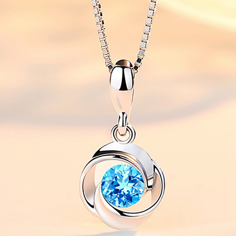 New Fashion Blue Stone Pendants Elegant Crystal Rhinestone Necklaces Pendant For Women ( Without Chain )