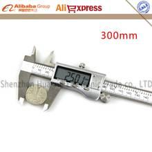 Big sale New Black Precision 12″ 300mm Metal Digital LCD vernier caliper Electronic digital caliper Micrometer Measuring Tool