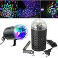 3W RGB LED Stage Light Rotating Crystal Magic Ball Laser Stage Lighting Effect Party Disco DJ Bar Lamp Bulb 85-265V EU Plug