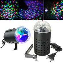 3W RGB LED Stage Light Rotating Crystal Magic Ball Laser Stage Lighting Effect Party Disco DJ Bar Lamp Bulb 85-265V EU Plug