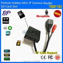 New Audio&Video Super Mini Onvif IP camera Megapixel 720P HD Indoor Security CCTV IP Camera Pinhole 3.7mm Lens SD Card Slot P2P