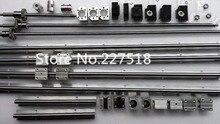 6 סט SBR16 SBR20 ינארית מדריך Rail + ballscrews RM1605 SFU1605 כדור ברגים + BK/BF12 + אגוז דיור + מצמדים עבור CNC חלקי