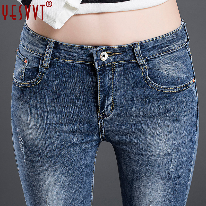 YESVVT 2017 Jeans for women Jeans With High Waist Jeans Woman plus size Women Jeans femme