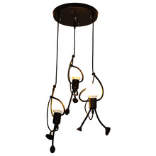Scandinavian Iron Chandeliers Retro Creative Restaurants Cafes Loft Style Loft Light Showcases Modern Art Chandeliers nostalgic old bars restaurants bars personal art flowers glass chandeliers multicolor optional