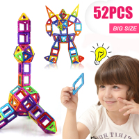 52PCS Regular/Big Size Magnetic Designer Building Construction Toys Set Blocks DIY Magnet Educational Toys for Children