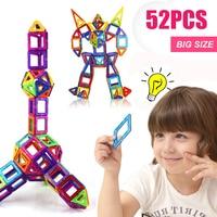 52PCS Regular/Big Size Magnetic Designer Building Construction Toys Set Blocks DIY Magnet Educational Toys for Children