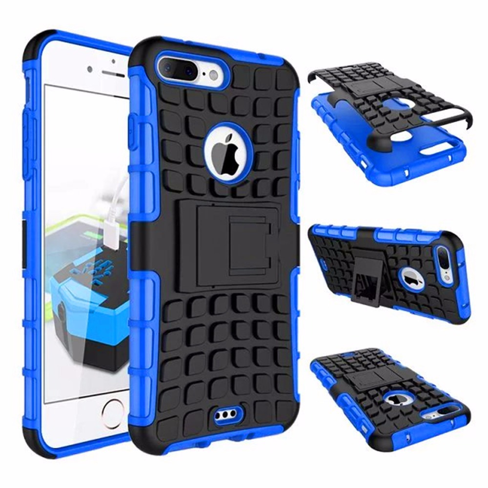 Hybrid Kickstand <font><b>Case</b></font> For <font><b>iphone</b></font> 8 5 5c 5S SE <font><b>6</b></font> 6s 7 6plus 6S plus 7 plus 8 plus Shockproof With Stand Function Cover <font><b>Cases</b></font> image