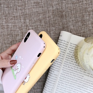 Image 4 - لطيف الحيوان زوجين حقيبة لهاتف أي فون X XS XS ماكس XR 6 6S 7 8 Plus لينة آيفون 7 غطاء واقي للشاشة الوردي غطاء الهاتف هدية