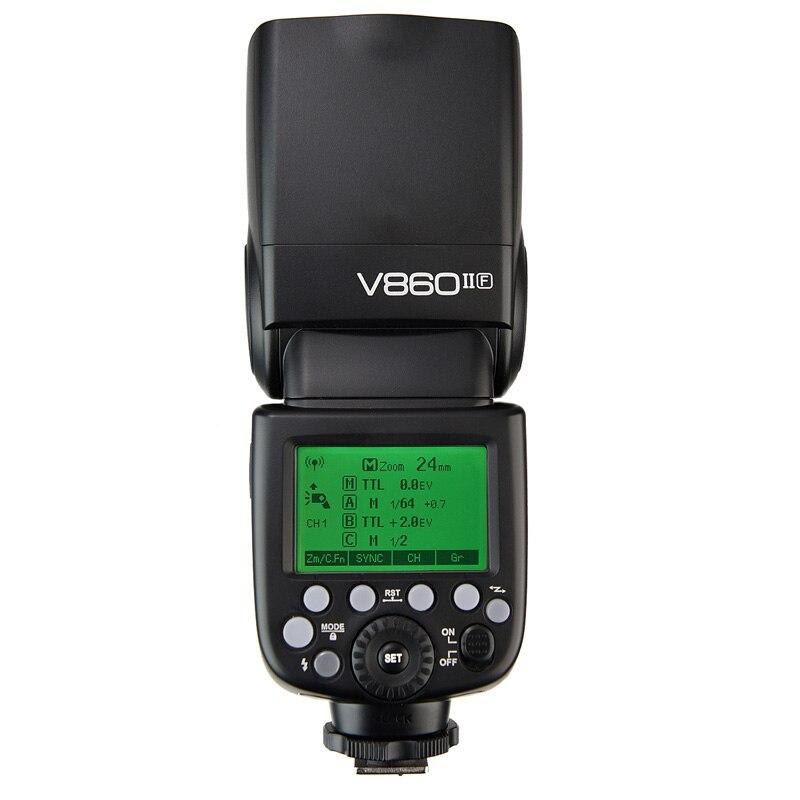Godox V860IIF + 2000 mahリチウムイオン電池gn60 2.4グラムhss 1/8000 sワイヤレスttlフラッシュライトスピードライト富士フイルムカメラ  グループ上の 家電製品 からの 点滅 の中 3