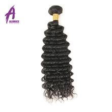 Alimice Deep Wave Brazilian Hair Weave Bundles Non Remy Hair Extension 100 Human Hair Bundles Natural