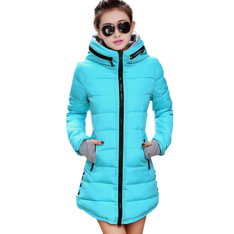 New Plus Size 5XL Winter Jacket Women Down   Parkas   Long Female Causal Slim Jacket Coat Hooded Zipper Thick Coat Outwear 2019