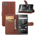 BrankBass Z5 Compact PU Leather Flip Case Cover For Sony Xperia Z5 Compact Wallet Phone Bag Cases Z5 Compact