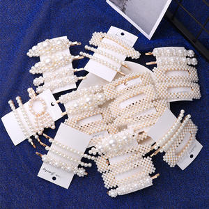 1 Set Solid Pearl Hair Clips for Women Hair Barrette Hairpins Snap Barrettes Trendy