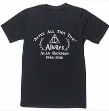 Print T Shirt Fashion Sleeve Crew Neck Men After All This Time Always Alan Short-Sleeve Top