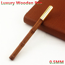 Luxury Writing Gifts Wooden+Metal Ballpoint Pen 0.5MM Black ink For Office School Stationery Supplies Writing Ball pen