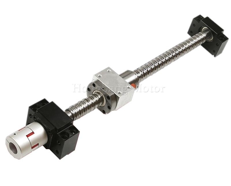 SFU1605 vis à billes ensemble, SFU1605 vis à billes avec BK/BF12 fin usiné + 1605 écrou à billes + écrou logement + BK/BF12 support d'extrémité + couplage