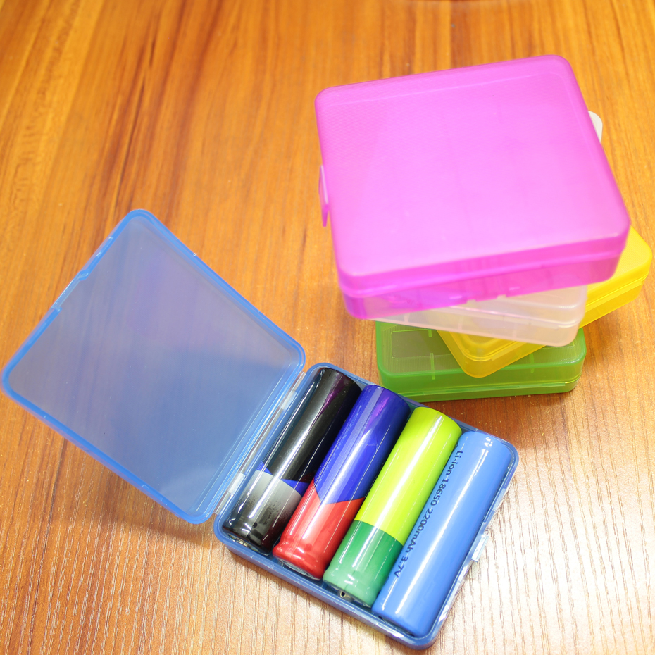 1pcs/lot 1865 battery box storage 4 sorting waterproof
