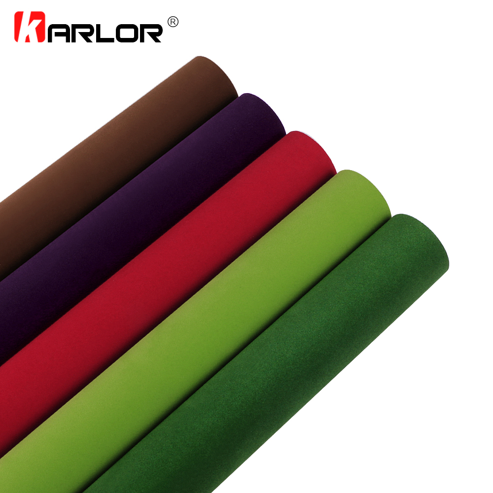 10*100cm Suede Vinyl Film Velvet Fabric Car Change Color Sticker Adhesive DIY Decoration Decal For Auto Motorcycle Car Styling-in Car Stickers from Automobiles & Motorcycles