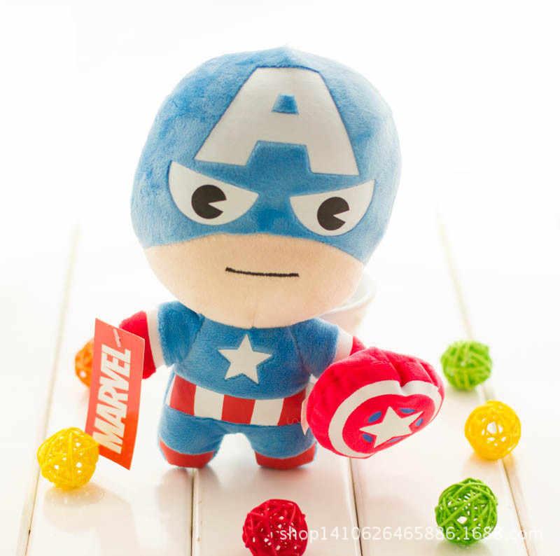 Kawaii Avengers pluszowe zabawki Hulk thor, kapitan ameryka Iron Man Spiderman wypchane zwierzę zabawki miękkie pluszowe lalki wielcy chłopcy prezent
