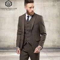 Custom Made Dark Blue Men Suit Tailor Made Suit Bespoke Light Navy Blue Wedding Suits For