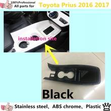 Tampa do carro vara ABS braço luva Stall Pás copo botão do interruptor lâmpada quadro painel moulding guarnição 1 pcs para T0Y0TA Prius 2016 2017