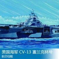 1/700 U.S. Navy CV 13 Franklin aircraft carrier Assembly model