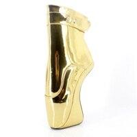Золотые пикантные балетные туфли на высоком каблуке, женские туфли лодочки, Фетиш обувь, женская обувь для вечеринок, 2017, балетки, танцеваль