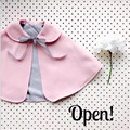Fast Shipping Children Clothing 2016 Fashion Korean Casual Cute Wool Cape Coat Outwear Girl Clothes Autumn
