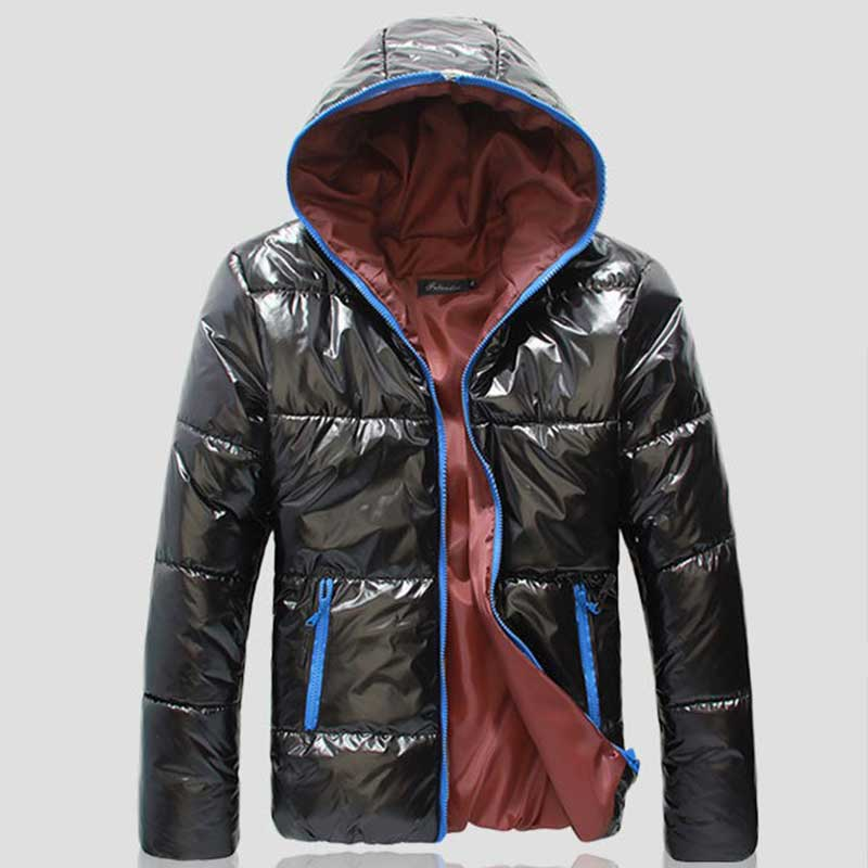 2019 New Men Cotton Clothing Parkas Candy Zipper Male Warm Parkas Men's Hooded Jacket Coat