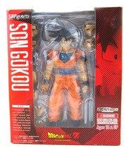 Nuevo Bandai Dragon Ball Z DBZ Goku Saiyan Normal Tamashii S. H. Figuarts 6 pulgadas/15 CM PVC Figuras de Acción Modelo Colección juguetes