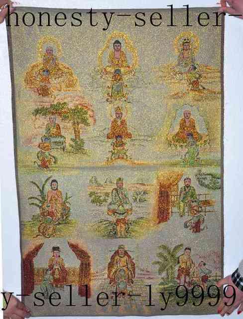 Tibet Silk Embroidery art Buddhism Tangka evil spirits 12 god buddha  statue-in Statues & Sculptures from Home & Garden on Aliexpress com    Alibaba