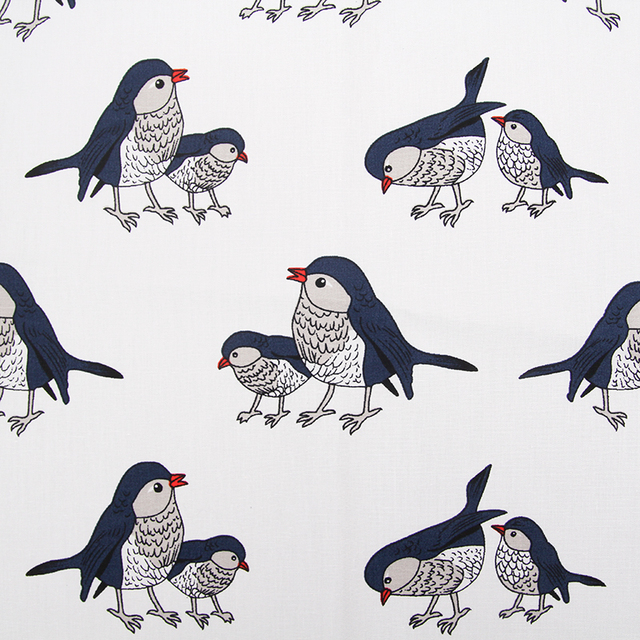 100 Cotton Sateen Stretch Bird Printed Fabric For Sewing Women