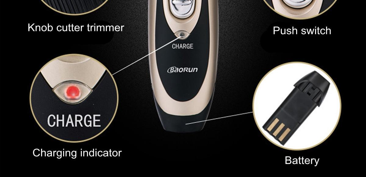 Rechargeable Baorun Electrical Pet Hair Trimmer 19 » Pets Impress