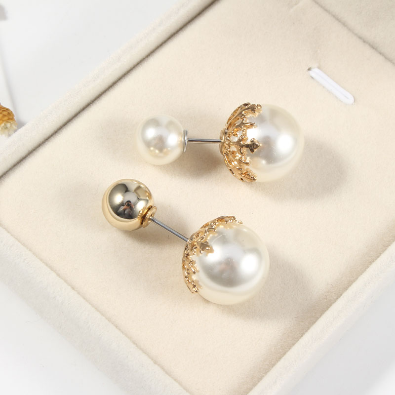 19 High Quality Vintage Gold Brooch Pins Double Head Simulation Pearl Large Big Brooches For Women Wedding Jewelry Accessories 6