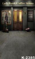 Left Bank Coffee Vintage Shop Door Photographic Vinyl Backgrounds 5X7ft Wedding Children Photography Backdrops Kids Photo