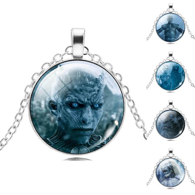 Trendy Round Silver Pendant Game of Thrones Women Jewelry