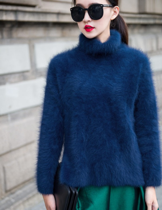 mink cashmere sweater women long cashmere pullovers knitted pure mink jacket Customized color free shipping S221