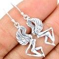 Guarantee Plain 925 Sterling Silver  Fairy Earrings  , 40 mm, 3.8 g,  SPJ2054