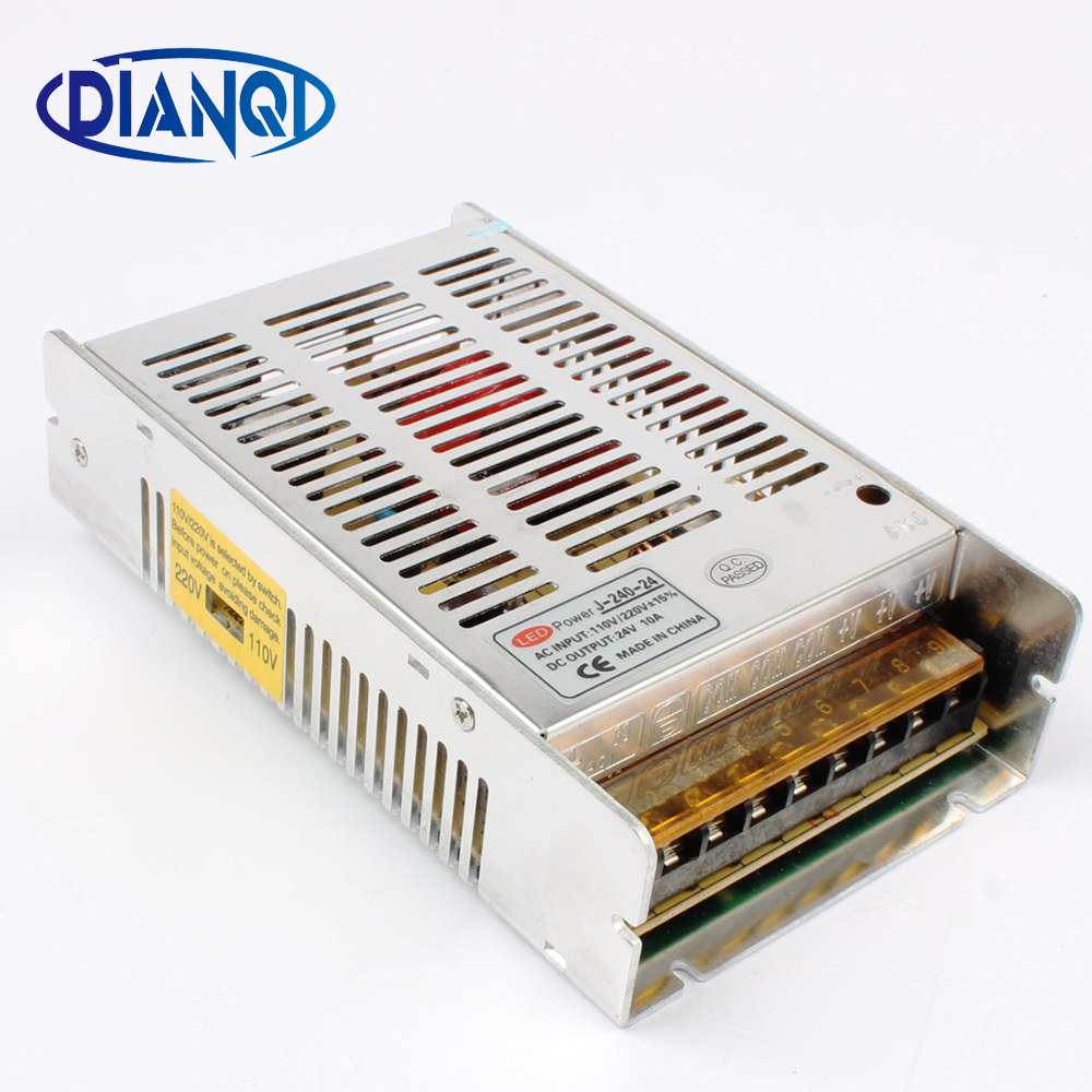 High quality new model  Strip 12V 20A 240W 24V 10A Switching Power Supply Silver LED AC 110-220V Input to DC 24V J-240-24High quality new model  Strip 12V 20A 240W 24V 10A Switching Power Supply Silver LED AC 110-220V Input to DC 24V J-240-24